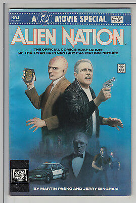 ALLIEN  NATION  #1  MOVIE ADAPTION   FN+/VF+ by D C COMICS 1988  AMERICAN COMIC