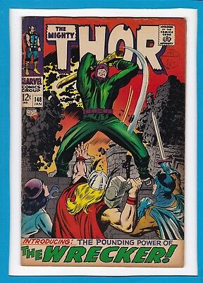 """Mighty Thor #148_January 1968_Fine Minus_""""the Pounding Power Of The Wrecker""""!"""