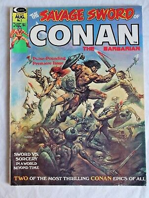 Savage Sword of Conan #1 Bronze age Barry Smith Neal Adams Huge Key FINE Picts