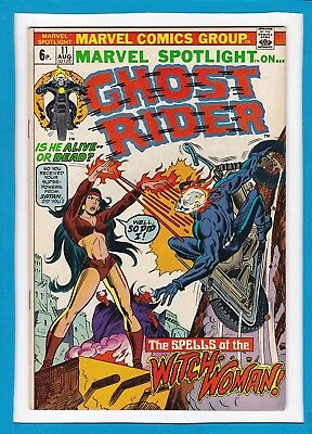 """Marvel Spotlight #11_Aug 1973_Vf-_Ghost Rider_""""the Spells Of The Witch-Woman""""_Uk"""