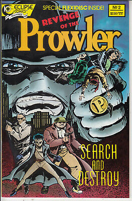 REVENGE OF THE PROWLER #2 VF/VF+  by ECLIPSE  COMICS AMERICAN COMIC 88 WITH DISK