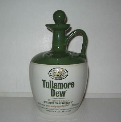 CARAFE TULLAMORE DEW,TBE,VGC,IRISH WHISKEY,JAR,DECANTER,Irish Porcelain Company