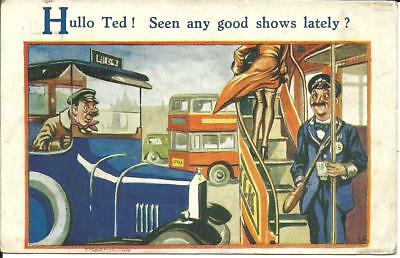 """""""hullo Ted, Seen Any Good Shows Lately?"""" Artist Signed By S.h. 1936"""