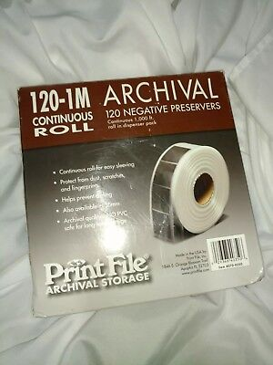 Archival Negative Preservers 120-1M continuous roll 1,000 ft negative protector