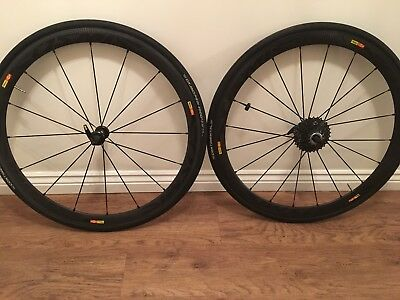 Mavic Cosmic pro carbon 40 Wheelset Including ,Tyres+Pads