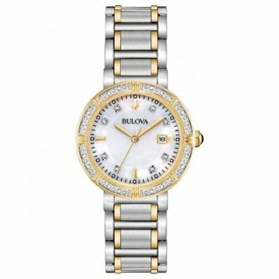 Bulova 98R260 Women's 30mm 24 Diamonds Accented Two-Tone Watch- NO MANUAL