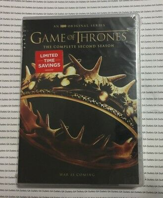 GAME OF THRONES: The Complete Second Season 2 (5-Disc DVD Set) New