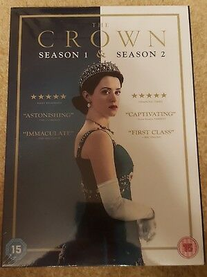 The Crown Complete Season 1 & 2 Brand New Sealed UK Region 2 DVD
