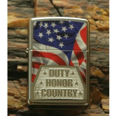 Etched  Duty Honor Country Military Veterans Zippo Lighter