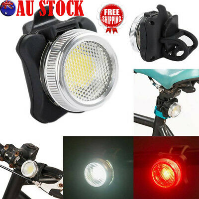 USB Rechargeable Cycling Bicycle Bike COB LED Head Front Rear Tail Light lAMP AU