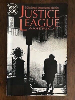 Justice League America #27  VF 8.0; DC | Awesome Exorcist Cover Swipe Halloween