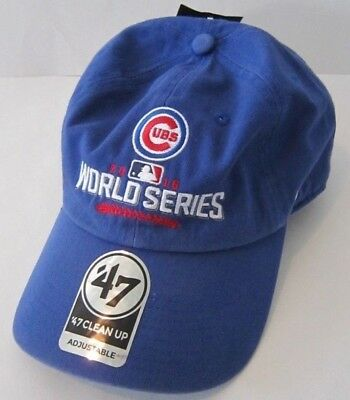 09070abcd8f NWT Chicago Cubs 2016 World Series Champions  47 Clean Up Adjustable Hat Cap