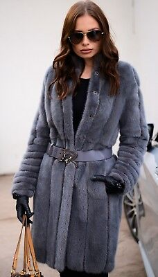 New 2019 Royal Mink Fur Coat Class Sable Chinchilla Vest Long Jacket Trench Fox