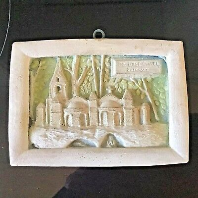 Vintage Ceramic Pottery Small Wall Plaque