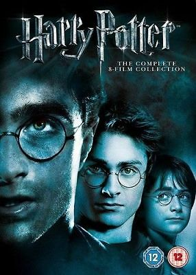 Harry Potter Complete 1-8 Collection Box Set New Sealed UK Region 2 dvd