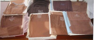 Vintage 60s Nylon Stockings 8 Pair Lot  S, M, & Longs Size 9-10.5  Varied Brands