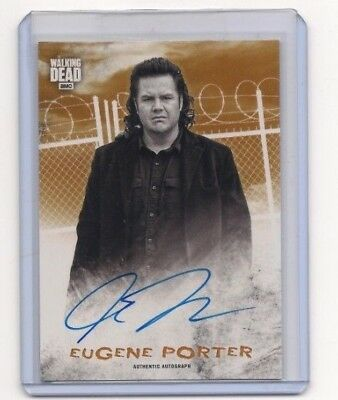 Walking Dead Hunters & The Hunted Josh Mcdermitt/eugene Autograph Card #/99!