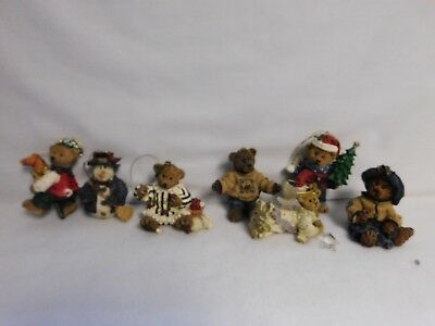 Boyds Bears & Friends ~ Group Lot Of 7 ~ Christmas Ornaments