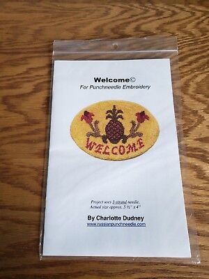 Charlotte Dudney NEW Welcome Punch Needle Pattern Free Shipping