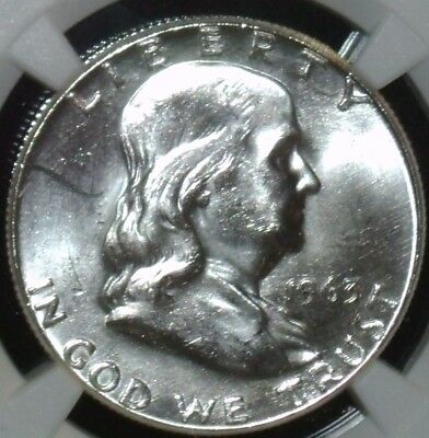 1963 NGC MS 64 Benjamin Franklin Half Dollars