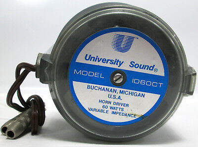 University Sound ID60CT Horn Driver 60 Watts Heavy Duty Compression