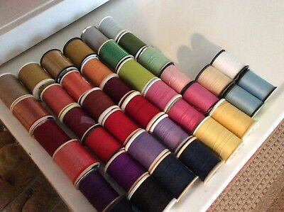 Lot of 40 Spools of Sewing Thread ~ All Purpose Assorted Colors ~ Quilting Craft