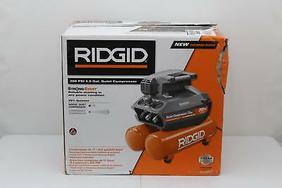 Ridgid (OF45200SS) 4.5 Gal - 200PSI - Portable Electric Quiet Air Compressor NEW