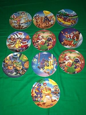 Lot of 10 McDonald's Plates Collectible Plates