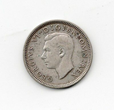British Silver 1937 6 Pence-Lot Z2
