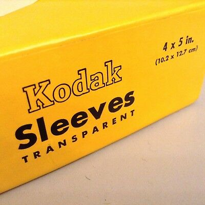 BOX of 100 KODAK 4x5 Transparent Sleeves PREVIOUSLY USED CLEAN FREE SHIPPING