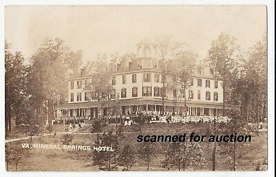 c1910/20s rppc - NEW CASTLE, CRAIG CO., VIRGINIA - The Mineral Springs Hotel