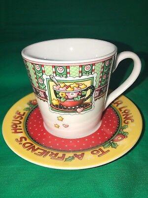 Mary Engelbreit Tea Cup and Saucer The Road is Never Long to a Friend's House
