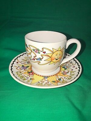 Mary Engelbreit Tea Cup and Saucer Live In The Light