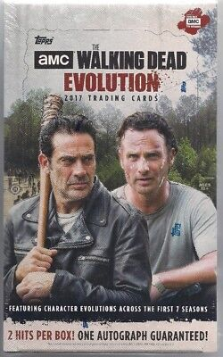 The Walking Dead Evolution Sealed Hobby Box  2 Hits 1 Autograph Guaranteed!