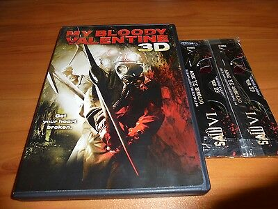 My Bloody Valentine (DVD, 2009, 2D & 3D Versions) Used Jensen Ackles, Kerr Smith