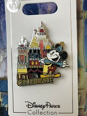 Disney Parks Exclusive Mickey Mouse 90th Birthday Pin Let's Celebrate New