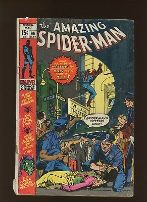 Amazing Spider-Man 96 GD+ 2.5 * 1 Book * Non Comic Code Approved Drug Use Issue!
