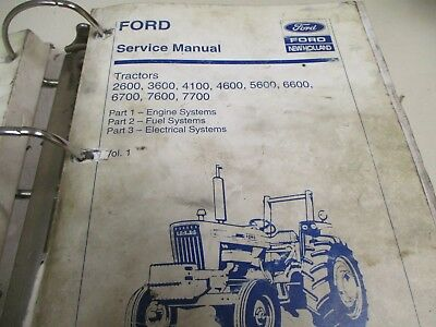 FORD 2600 3600 4100 4600 5600 6600 6700 7600 7700 Tractors ...  Ford Tractor Wiring Diagram Free Picture on