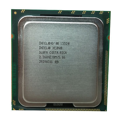 Lot of 20 Intel Xeon L5520 2.26GHz LGA 1366/Socket B 5.86 GT/s SLBFA