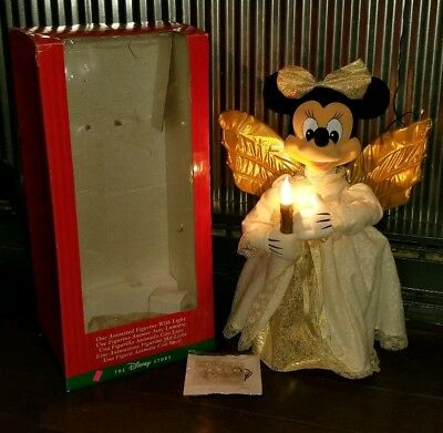 """Vtg DISNEY STORE POOH'S SEASON OF SONG 24"""" ANIMATED MINNIE MOUSE ANGEL"""