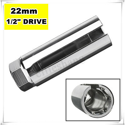 22mm 1/2'' Drive Lambda Oxygen O2 Sensor Socket Removal Hand Wrench Tool Silver