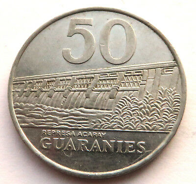 Paraguay 50 Guaranies 1988 Stainless Steel KM#169 UNC