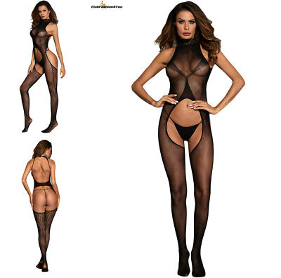 Hot Reizwäsche Fishnet Body Stocking Catsuit Netz Body Unterwäsche |H| 790071-2
