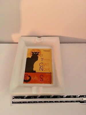 Tournee Du Chat Noir Black Cat Porcelain Made in  Paris ~ Small Coin Plate?