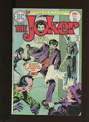 Joker 1 FN+ 6.5 * 1 Book * DC! 1st Issue in 1st Solo Series! 1975! Two-Face!