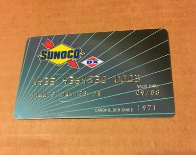 Vintage Expired Sunoco Credit Card