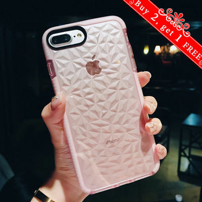 For iPhone 11 Pro Max XR XS Max 7 8Plus Case Clear Diamond Cute Shockproof Cover
