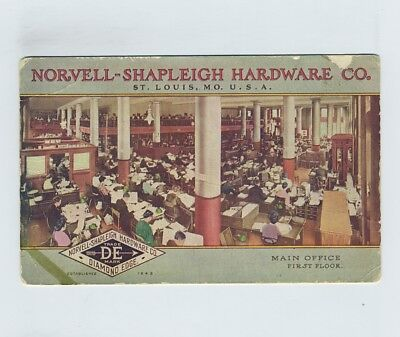 Early Norvell Shapleigh Hardware Co St Louis MO Advertising Postcard wz2073