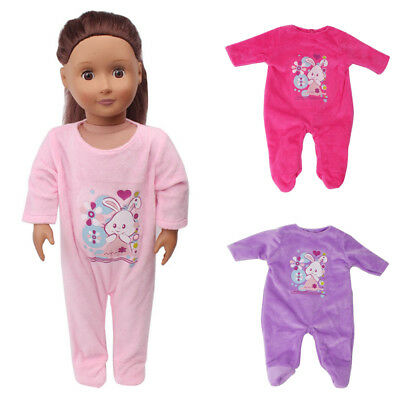 Toy Doll Clothes Set Born Jumpsuit Sleeping Fits For 18inch Baby Comfort