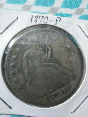 1870-P Seated Livery silver one dollar
